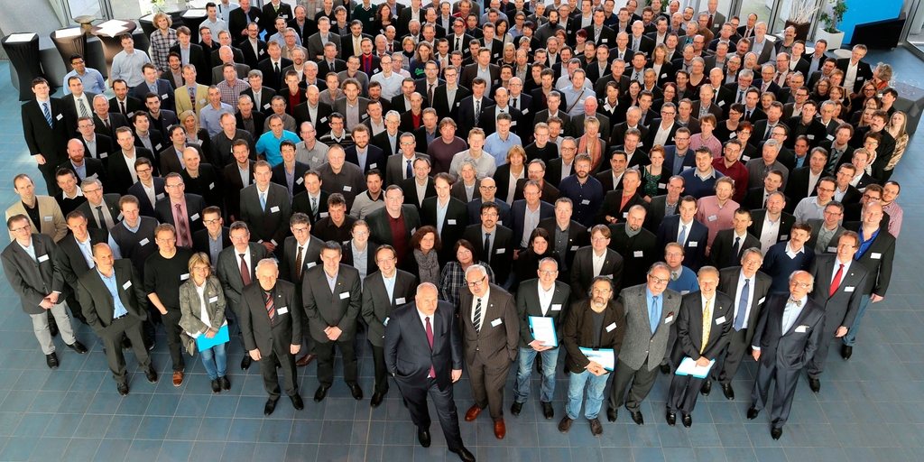 Endress+Hauser honoring its inventors at the Innovators' Meeting 2016 in Mulhouse, France.